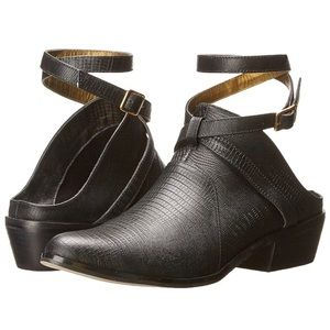 Cynthia Vincent Raleigh Mules Ankle Strap Snake